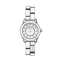 STORM - Ladies white crystal enamel bracelet watch