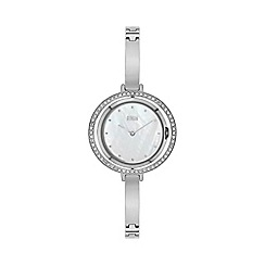 STORM - Ladies silver crystal, swivel case crystal on reverse bangle/bracelet watch
