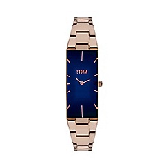 STORM - Ladies blue curved glass bracelet watch