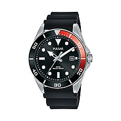Police - Men's black rubber strap watch