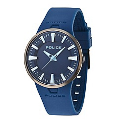 Police - Men's blue rubber strap watch