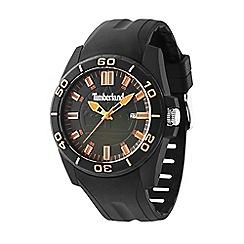 Timberland - Men's black plastic strap watch