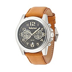 Timberland - Men's brown leather strap watch