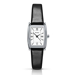 Sekonda - Ladies chrome coloured case with black strap