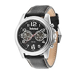 Timberland - Men's black leather strap watch