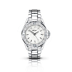 Seksy - Ladies 'intense' silver swirling bracelet watch