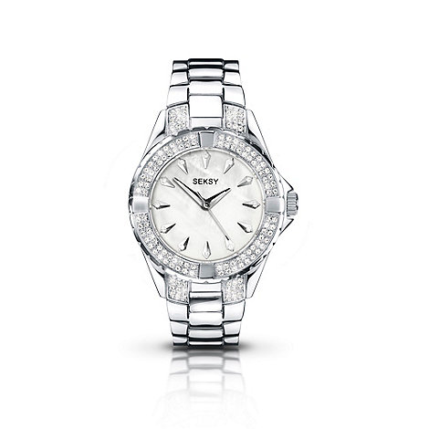 Seksy - Ladies +intense+ silver swirling bracelet watch
