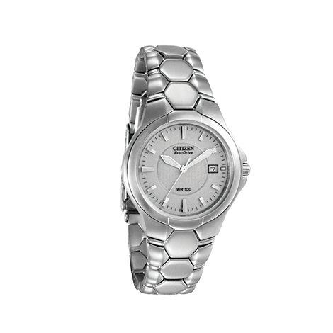 Citizen - Men's silver 'eco-drive' wr100 bracelet watch