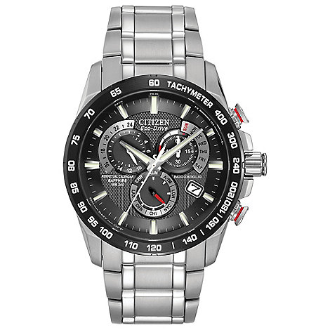 Citizen - Men+s silver calendar feature watch at4008-51e