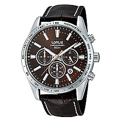 Lorus - Gents brown dial brown strap chronograph watch