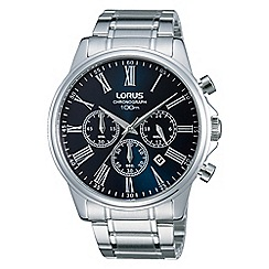 Lorus - Gents blue dial stainless steel chronograph watch