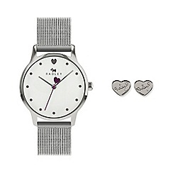 Lorus - Ladies soft pink dial silver bracelet watch