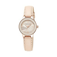 Anne Klein - Ladies rose gold-tone watch with blush pink leather band