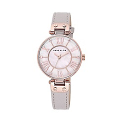 Anne Klein - Ladies rose gold-tone and taupe leather strap watch
