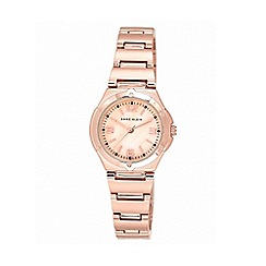 Anne Klein - Ladies rose gold-tone bracelet watch