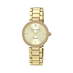 Anne Klein - Ladies diamond dial gold-tone bracelet watch