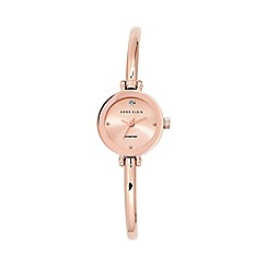 Anne Klein - Ladies rose gold stainless steel bangle watch