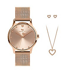 Anne Klein - Ladies rose gold 'mother of pearl' stainless steel bracelet watch ak/n1470rgst