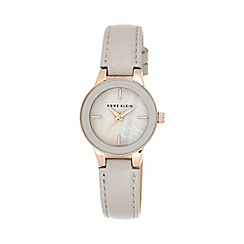 Anne Klein - Ladies rose gold-tone and taupe leather strap watch ak/n2032rgtp