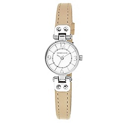 Anne Klein - Ladies watch with white dial and beige leather strap