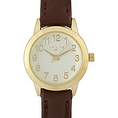 Infinite - Ladies brown watch in a gift box