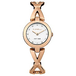 Fiorelli - Ladies rose gold tone bracelet watch