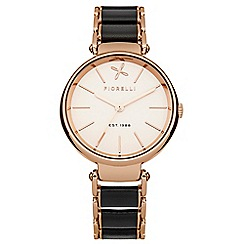Fiorelli - Ladies black and  rose gold tone bracelet watch