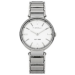 Fiorelli - Ladies silver tone bracelet watch