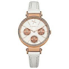 Fiorelli - Ladies white leather strap watch