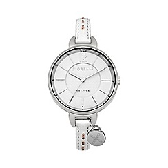 Fiorelli - Ladies white leather strap watch
