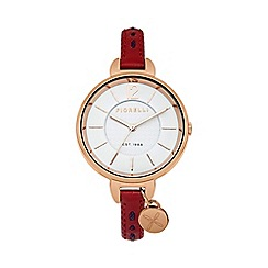 Fiorelli - Ladies red leather strap watch