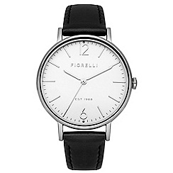 Fiorelli - Ladies black leathers strap watch