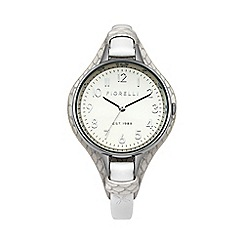Fiorelli - Ladies white leather cuff watch