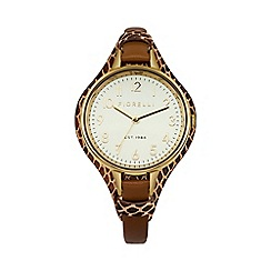 Fiorelli - Ladies tan leather cuff watch