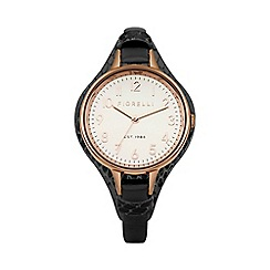 Fiorelli - Ladies black leather cuff watch