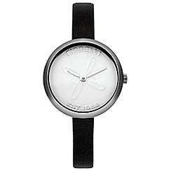 Fiorelli - Ladies black leather strap watch
