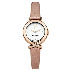 Fiorelli - Ladies nude leather strap watch