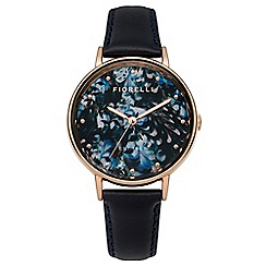 Fiorelli - Ladies blue leather strap watch