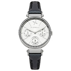 Fiorelli - Ladies black leather strap watch