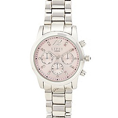 Lipsy - Ladies stainless steel rose dial watch lp390