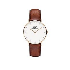 Daniel Wellington - Ladies rose gold leather strap watch