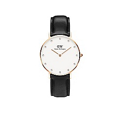 Daniel Wellington - Ladies rose gold leather strap watch