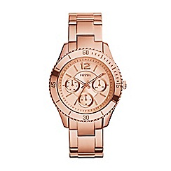 Fossil - Ladies rose gold 'stella' watch