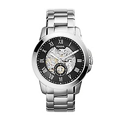 Fossil - Gents silver 'grant' stainless steel watch me3055