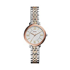 Fossil - Ladies 'mini-jacqueline' tri-tone watch