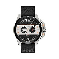 Diesel - Mens stainless steel case and leather strap watch