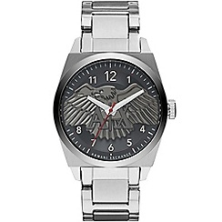 Armani Exchange - Men's stainless steel and black bracelet watch