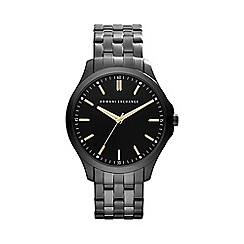 Armani Exchange - Men's gunmetal and black bracelet watch