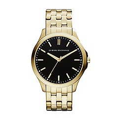 Armani Exchange - Men's gold and black bracelet watch