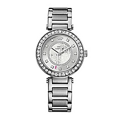 Juicy Couture - Ladies silver crystal stones bracelet watch